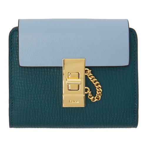 CHLOÉ Green Square Drew Wallet