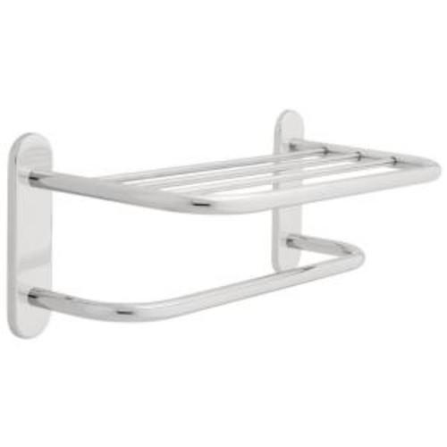 Franklin Brass 18 in. Towel Shelf with Towel Bar in Chrome