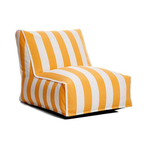 Cabana Stripe Outdoor Lounger, Yellow/White
