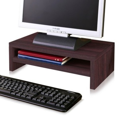 Eco Friendly 2-Shelf Monitor Stand Riser Espresso - Way Basics