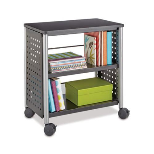 Safco Scoot Mobile Personal Bookcase, 2-Shelf, 27