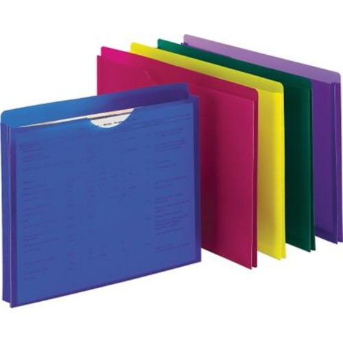 Pendaflex Poly File Jackets, Legal, Assorted, 5/Pack