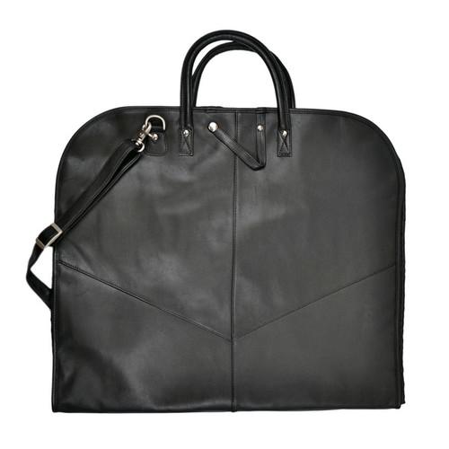 Royce Leather Spencer Genuine Leather Garment Bag [option : Black]