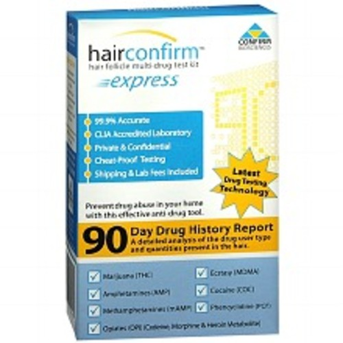 Hair Confirm Express Hair Follicle Multi-Drug Test Kit