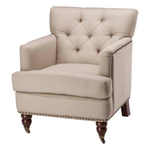 Safavieh Colin Ecru Cotton Arm Chair