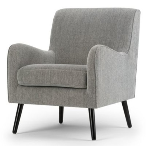 Simpli Home Dysart Upholstered Arm Chair in Grey