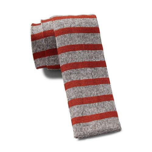 Silk Stripe Knitted Tie