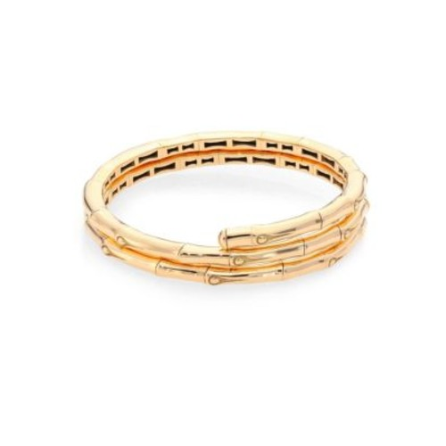 Bamboo 18K Yellow Gold Double Coil Bracelet