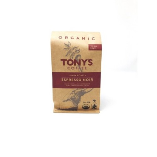 Tony's Coffee Espresso Noir Whole Bean Coffee - 12oz