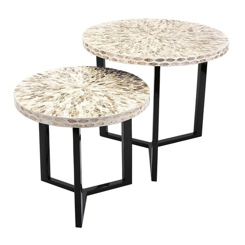 Imax Coffee, Console, Sofa & End Tables Surya Shell Tables (Set of 2)