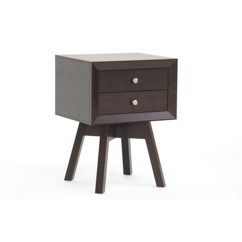Baxton Studio Warwick Brown Modern Accent Table and Nightstand