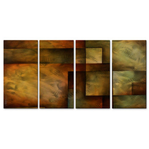 All My Walls 'Pieces Of Life' by Michael Lang 4 Piece Graphic Art Plaque Set