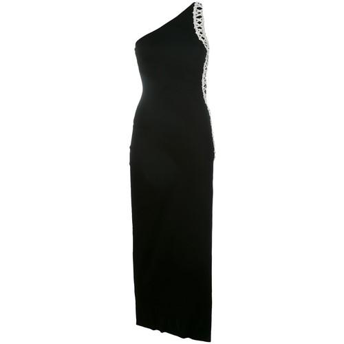 BALMAIN One Shoulder Embellished Dress