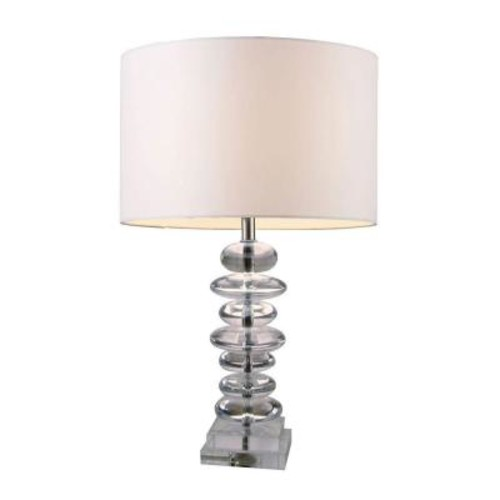 Titan Lighting Madison 23 in. Clear Crystal Table Lamp