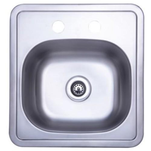 Kingston Brass Carefree 15'' x 15.75'' Single Bowl Self-Rimming Bar Sink