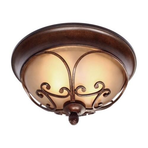 Golden Lighting Loretto Flush Mount Light - Russet Bronze Finish