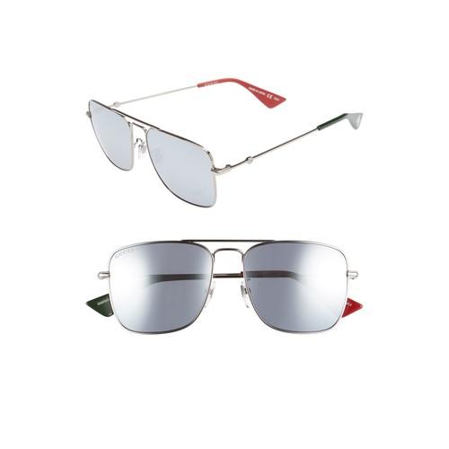 GUCCI Caravan 55Mm Square Aviator Sunglasses