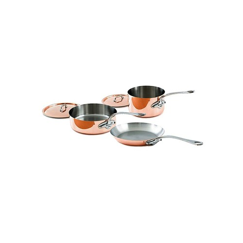 Mauviel 1830 M'heritage 1.5mm - 5 Pc Copper & Stainless Steel Cookware Set