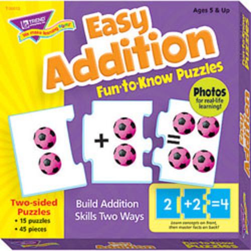 Trend Fun-To-Know Puzzles, Addition, Pack Of 45