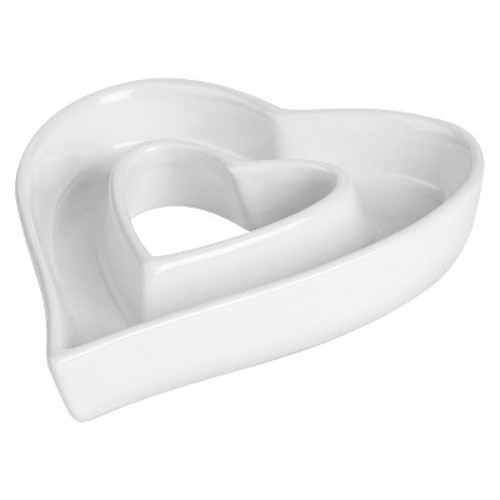 White Ceramic Heart Dish
