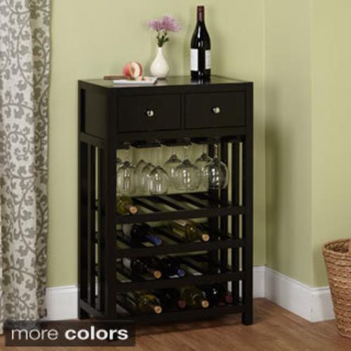 Contemporary Dark Brown Wine Cabinet by Baxton Studio