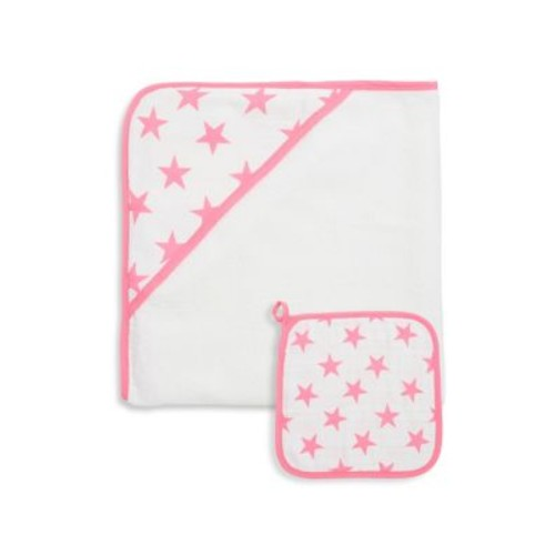 Baby's Two-Piece Hooded Towel & Washcloth Set