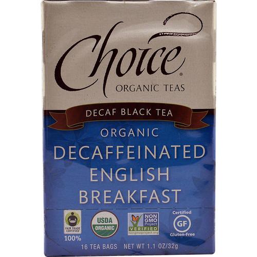 Choice Organic Teas Decaffeinated Black Tea English Breakfast -- 16 Tea Bags