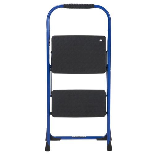 Cosco 11308SWB1E 2 Step Big Step Folding Step Stool with Rubber Hand Grip Blue