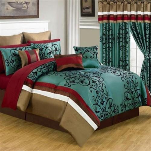Lavish Home 25 Piece Room-In-A-Bag Eve Bedroom Set
