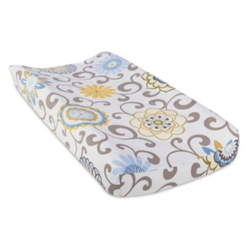 Waverly Baby by Trend Lab Pom Pom Spa Changing Pad Cover in Blue/Green