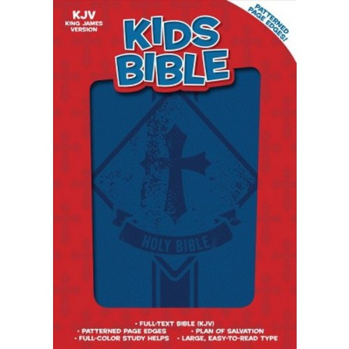 Holy Bible : King James Version, Kids Bible, Royal Blue Leathertouch (Paperback)