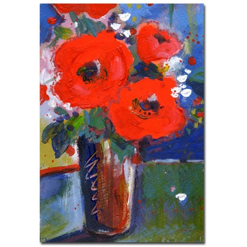 Trademark Fine Art Sheila Golden 'Bouquet II' Canvas Art Canvas Art Ready to H 35x47 Inches