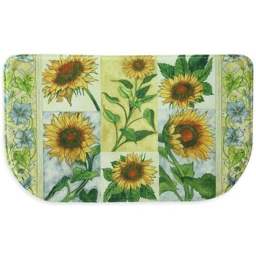 Bacova Sun Worshippers 18-Inch x 30-Inch Memory Foam Slice Kitchen Mat in Yellow