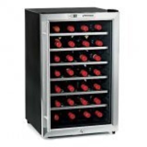 Stainless Steel 28 Bottle Wine Refrigerator