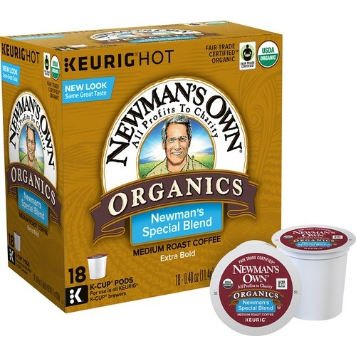 Keurig K-Cup Newman's Own Organics Special Blend Coffee, Regular, 18 Pack