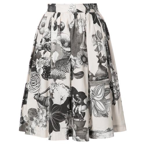 MSGM Floral Print Gathered Skirt