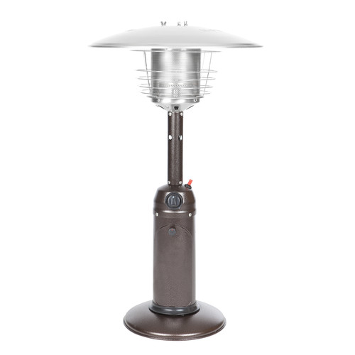 Fire Sense Hammer Tone Bronze Finish Table Top Patio Heater