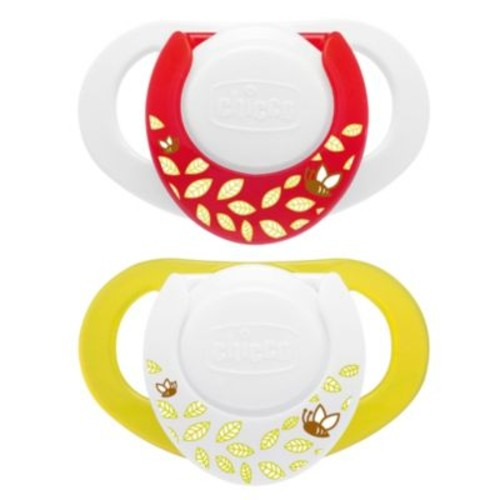 Chicco NaturalFit Deco Orthodontic Pacifier in Neutral (2-Pack)