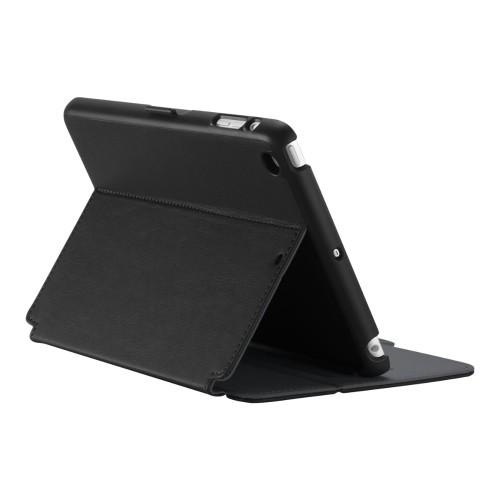 Speck Products StyleFolio iPad mini 1/2/3 - Flip cover for tablet - vegan leather - black, slate gray - for Apple iPad mini; iPad mini 2; 3 (71978-B565)