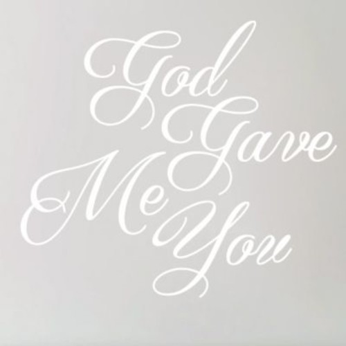 SweetumsWallDecals God Gave Me You Wall Decal; White