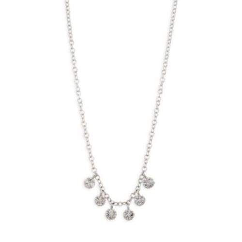 Diamond Discs Necklace