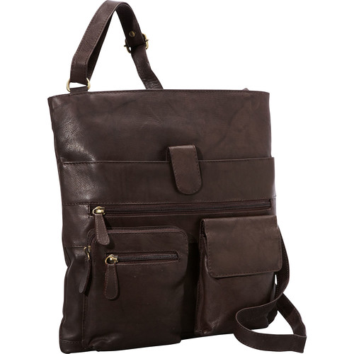 R & R Collections 4 Pocket Leather Crossbody