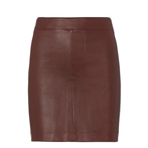 HELMUT LANG Mahogany Stretch Leather Skirt