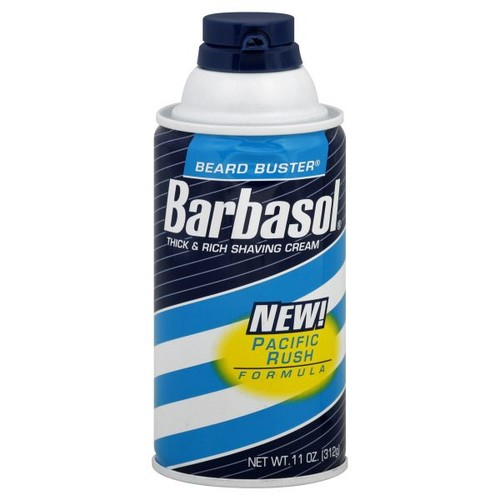 Barbasol Beard Buster Shaving Cream, Thick & Rich, Pacific Rush Formula, 10 oz (312 g)