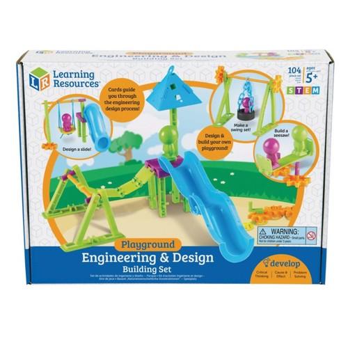 Learning Resources STEM Playground Engineering And Design Building Set, Kindergarten - Grade 4
