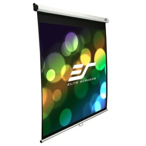 Elite Screens 113 in. Manual Projection Screen with Black Case