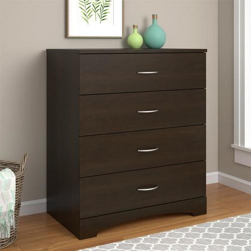 Ameriwood Crescent Point 4-Drawer Espresso Dresser