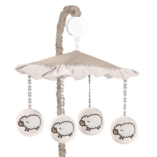 Sweet Jojo Designs Little Lamb Musical Baby Crib Mobile