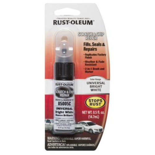 Rust-Oleum Automotive 0.5 oz. Universal Bright White Scratch and Chip Repair Marker (6-Pack)