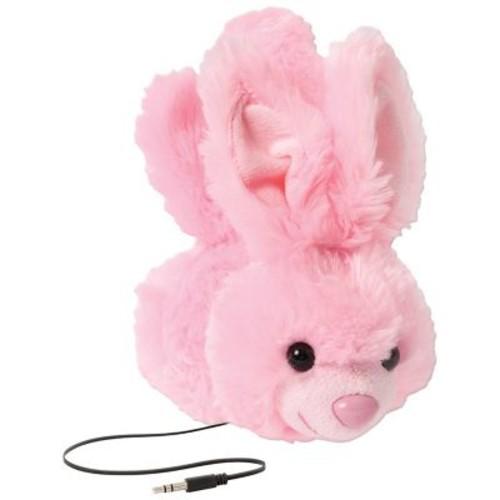 Retrak Animalz Retractable Over-The-Head Volume Limiting Children's Stereo Headphone, Bunny